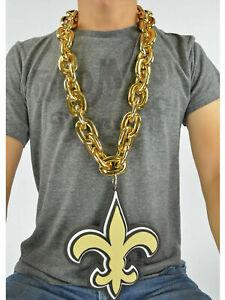 New Orleans Saints NFL GOLD FanChain Necklace Big Rope Chain 3D Foam Magnet