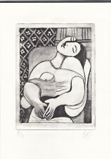 dd PABLO PICASSO original old Etching Lithograph signed