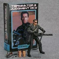 "NECA Terminator 2 Judgment Day T-800 Ultimate Deluxe Arnold 7"" Action Figure New"