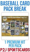 Gold Rush 2020 VAULT Baseball Card Pack Break⚾️1 Random TEAM⚾️Break MLB 4191