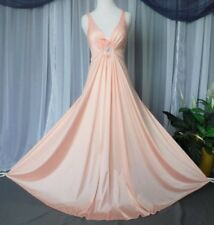 M.Vtg.Peach, #9625, Olga long full sweep nightgown,lingerie,womens ,nightgowns,