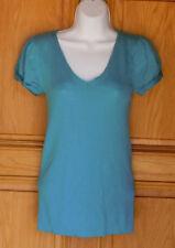 Old Navy Ladies Size M Turquoise Cap Sleeve Top