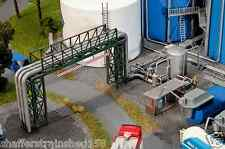 Faller # 130487 Tank Farm Piping & Filling Plant- Kit (Plastic)  HO Scale MIB