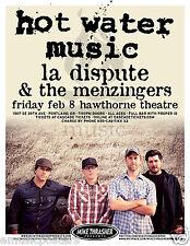 HOT WATER MUSIC / LA DISPUTE / MENZINGERS 2013 PORTLAND CONCERT TOUR POSTER