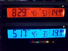 Digital 3 in1 CAR Mini Voltage LCD Monitor Alarm Clock Temperature Thermometer