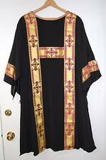 PAIR OF BLACK DALMATICS FOR THE DEACON - 548 - (VESTMENT, CHASUBLE)