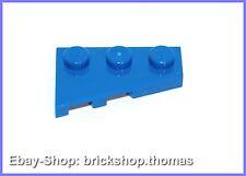 Lego Flügel rechts (3 x 2) Platte - 43722 blau - blue Wedge Plate - NEU / NEW