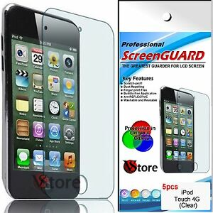 5 Pièces Film Films Protéger Sauve Écran LCD pour Apple Ipod Touch 4 4G