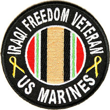 NEW US MARINES IRAQI FREEDOM VETERAN MILITARY IRON ON PATCH