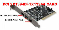 3Ports 2x1394B+1x1394A Firewire400/800 PCI 32bit Adapter Card TI Chip with Cable