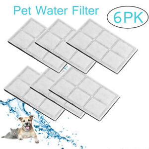 6PCS Charcoal Water Filters For Drinkwell Mini Outdoor Dog Pet Water Fountain