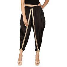Black Satin Silk Dhoti Pant, Patiala Dhoti Salwar, Dhoti Trousers for women
