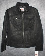 0f4b09d89ae LEVI S Black Moto 100% Genuine Leather Jacket Coat Womens Plus Size 1X
