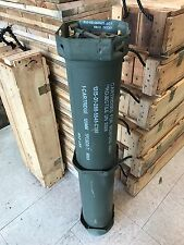 OLD US ARMY M1 ABRAMS TANK AMMO TUBE MILITARY AMMO CAN 120MM SABOT