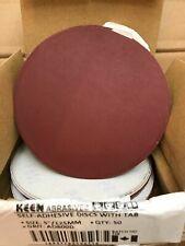 """Box of 50- 600 Grit 5"""" Sticky Tabbed WET DRY SANDPAPER KEEN ABRASIVES #36116"""