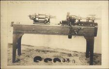 EB Estes & Son Automatic Wood Turning Lathe c1910 Real Photo Postcard