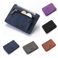 Men PU Slim Wallet Credit Card Holder Mini Coin Purse Money Clip Bag Pocket Hot