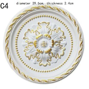 23cm/29.5cm Polyurethane Ceiling Rose PU Onlay Home Decor Ornate Victorian Retro