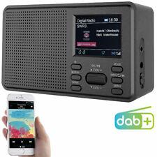 Radio: Mobiles Digitalradio mit DAB+ und UKW, LCD-Farbdisplay, Wecker, 8 Watt