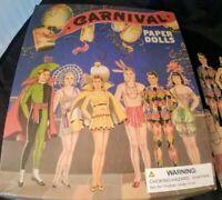 "Box Uncut Carnival Paper Dolls Reproduction 1940s 2013 Perisphere Circus 10"" Set"