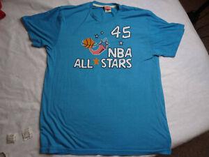 Homage Michael Jordan NBA All Stars T-Shirt Teal XL