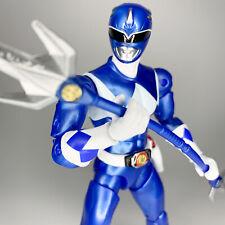 "Power Rangers Legacy Collection MIGHTY MORPHIN' BLUE Metallic Figure Bandai 6.5"""