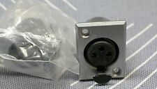 DELTRON 3 pin female XLR Surface Panel Mount Jack microphone mic cable CONNECTOR