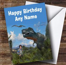 Andy's Dinosaur Adventures  Personalised Children's Birthday Greetings Card