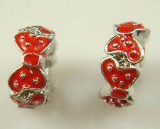 hot European Silver CZ Charm Beads Fit sterling 925 Necklace Bracelet Chain j2vn