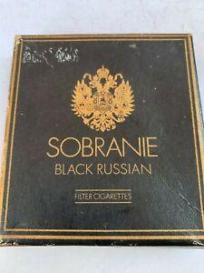 Vintage Old Sobranie Black Russian Brand Cigarettes London Empty Box