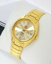 ORIENT 3 Star Automatic Watch Mens Gold tone watch Champagne dial FAB00002C9 New