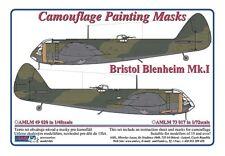 AML 1/48 Bristol Blenheim Mk. I Camouflage Peinture Palette de masques # M4920