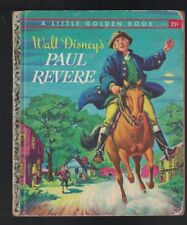Walt Disney's Paul Revere  Little Golden Book 1st  print