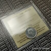 1948 Canada 10 Cents Silver Dime - ICCS MS-63 - Nice Coin #coinsofcanada