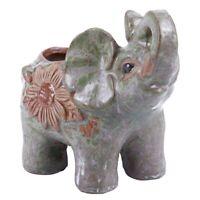 Ceramic Mini Elephant Cacti Succulent Plant Pot Flower Planter Garden Home V7O2