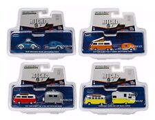 GREENLIGHT 1:64 V DUB HITCH & TOW VOLKSWAGEN VW BEETLE BUS SAMBA SET OF 4 51035