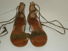 MADEWELL Bridget Suede Leather Lace-up Sandals F1658 Size 10