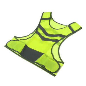 High Visibility Safety Vest With Pocket For Jogging, Biking, Neon Yellow