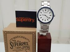 New Mens SUPERDRY Watch Stainless steel IDEAL GIFT! Boxed RRP £110 !! GENUINE