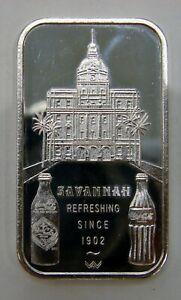 Savannah, GA - Coca-Cola 75th Anniversary - 1 oz. Silver Art Bar