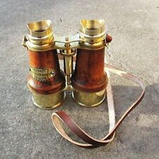 Brass Nautical Binocular With Leather Belt 6 Inches Vintage Gifting Item