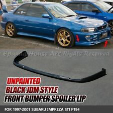 FOR 97-01 SUBARU IMPREZA WRX/STI UNPAINTED BLACK PU FRONT LIP VALANCE TRIM USA
