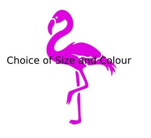 Pink FLAMINGO Vinyl Wall Stickers Choice of Size & Colour Self Adhesive