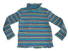 Blue seven tolles Langarm Shirt / Rolli Gr. 116 türkis-rosa geringelt !!