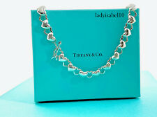 "Tiffany & Co Sterling Silver Heart Link Toggle Arrow Pendant 16"" Necklace 20521E"