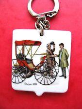 Ancien porte cle Publicitée Beurre de Baignes Automobile duryea 1893