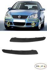 VW POLO 9N 2005 - 2009 NEW FRONT BUMPER MOULDING TRIM BLACK LEFT + RIGHT