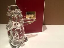 NIB MIKASA Glass Lead Crystal SNOWMAN FIDDLER Fiddle Player Figurine