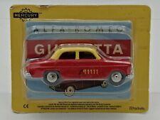 Ex Mag Alfa Romeo Giulietta Taxi  Mercury Hachette -1/48 Scale with carded box