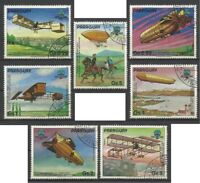 Paraguay - 1984 7v. CTO NH 200th Anniv Aviation Planes Aircraft
